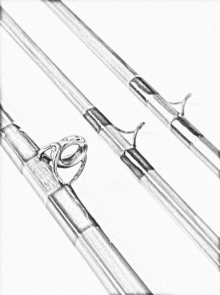 Fishing rod sketch