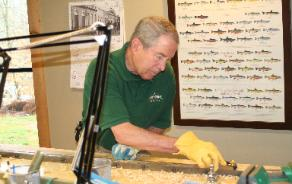 May 2008 Oyster Bamboo Fly Rod Making Class Sam H planing