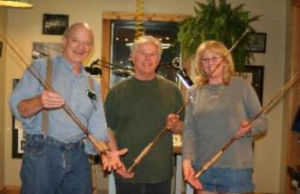 oyster bamboo fly rod making class in old shop